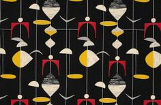 Pattern by Marian Mahler Lucienne Day, Jacqueline Groag, and Marian Mahler transformed textile design in Britain in the 1950s and 60s with their fresh, fun and clever abstract designs. Their enduring patterns are on view in an exhibition at the Fashion and Textile Museum in London through June 16.