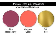 Stampin' Up! Color Inspiration: Rich Razzleberry, Calypso Coral, Gold Foil