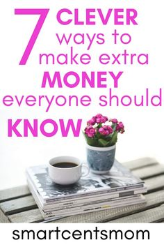 Want to know how to make extra money from home? Make 1000 dollars extra money per month from home with this clever list of 7 ways to make extra money from home. Earn extra money with these creative jobs that use hobbies, crafts, and thinking outside the box! Get started today with a side hustle and start earning extra money: 1000 dollars per month or more! #extramoneyideas #makemoneyfromhome