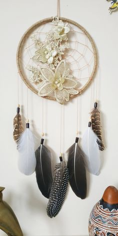 Dream Catcher Decor, Large Dream Catcher, Dream Catcher Boho, Neutral Walls, Teal Walls, Pinterest Gift Ideas, Native American Decor, Boho Dreamcatcher, Bohemian Wall Decor