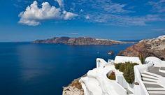 Katikies Hotel (Santorini, Greece) - #Jetsetter , #JSVolcano Katikies overlooks the caldera from perhaps its most popular viewpoint, Oia.