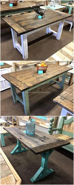 pallets wooden tables