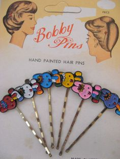 The good old bobby pin with funky decoration.