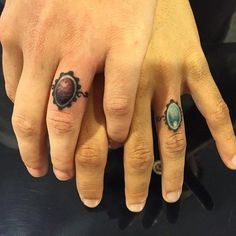wedding ring tattoos i love this idea