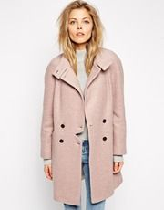 ASOS Coat With Notch Detail
