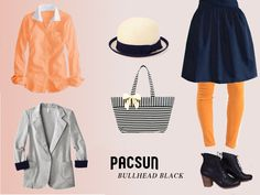 Quirky Class Lookbook Page, rendered after concept art. #pacsun #bullheadblack