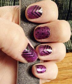 "Halloween nails!! Jamberry Celeb Status over Fizzy Grape.   Lorraine Hauger Instagram lorrainehauger #Jamberry #CelebStatus #FizzyGrape…"""