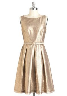Classy champagne for the holidays Shine and Dine Dress, #ModCloth