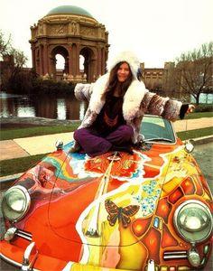Flower Power: ~ Janis Joplin and Her Psychedelic Porsche by Jim Marshall. Woodstock, Phil Collins, Janis Joplin Style, Pink Floyd, Recital, Beatles, Mundo Hippie, Historia Do Rock, Jim Marshall