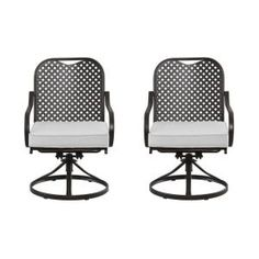$120 Hampton Bay, Fall River Patio Motion Dining Chair with Bare Cushion (2-Pack),at The Home Depot