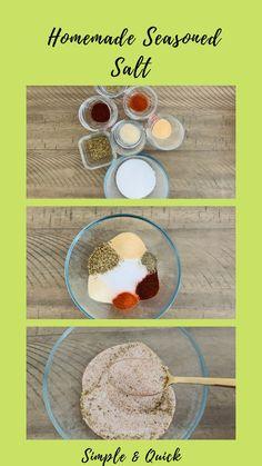 Seasoning Salt Recipe, Homemade Seasoning Salt, Seasoning Mixes, No Salt Recipes, Vegan Recipes, Vegan Meals, Spice Blends, Spice Mixes, Cheap Meals