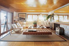 TRY: A gold ceiling like RALPH LAUREN, whose home was featured in ELLE DECOR in July/August 2005   - ELLEDecor.com