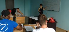 A summer group of students learning Russian last year.