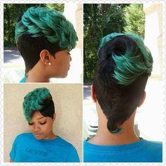 Ladies, what ya'll think? Slayed or Nah 27 Piece Hairstyles, Quick Weave Hairstyles, Dope Hairstyles, Cute Hairstyles For Short Hair, African Hairstyles, Pretty Hairstyles, Short Hair Cuts, Short Hair Styles, Hairstyles 2018