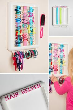 The Hair Helper Available In A White Frame And Choice Of Ribbon Colours  Only £19.99
