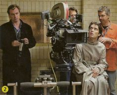 Behind the scenes of Batman Begins with Christopher nolan and The Scarecrow (Cillian Murphy).