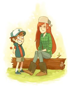 Wendy x dipper cover art dipper and wendy, wendy corduroy, gravity falls ar Cute Couple Quotes, Cute Couple Pictures, Dipper And Wendy, Wendy Corduroy, Gravity Falls Dipper, Cartoon Ships, Childhood Games, Minor Character, Dipper Pines