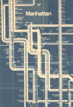 Vintage NYC Subway Map