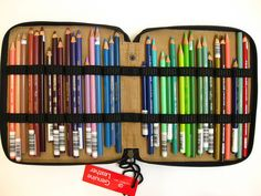Global Art Pencil Case and Prismacolor Pencils.  I have this exact case filled, plus four more filled with different color schemes.