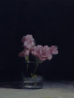 Neil Carroll Original Oil Painting Realism Impressionism Still Life Flowers