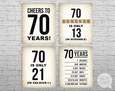 70th Birthday PRINTABLE Sign Pack 70th Birthday DIGITAL
