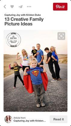 Superhero theme family pic