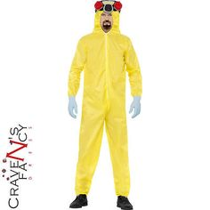 #Adult #breaking bad costume walter white hazmat yellow #chemical suit fancy dres,  View more on the LINK: 	http://www.zeppy.io/product/gb/2/191689149502/