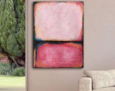 large abstract canvas art print living room by YedidaArtStudio