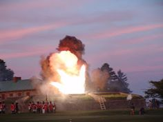 Explosion at Fort Erie. Read about the Forlorn Hope on our blog. discover1812.blogspot.com