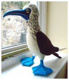 blue footed booby needle felt
