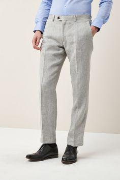 b4bec8ebf9 Mens Next Light Grey Tailored Fit Nova Fides Signature Linen Suit  Trousers  - Grey