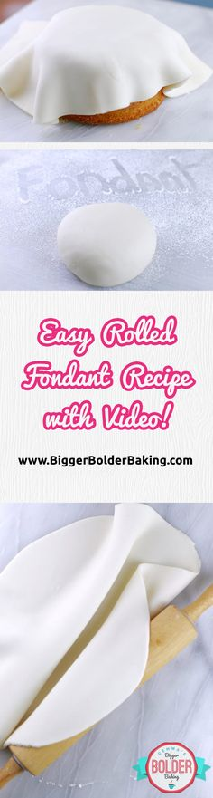 How to Make Rolled Fondant - The only recipe you will ever need for fondant. It is easy to make, easy to work with and inexpensive. Includes step by step video! via @gemstafford