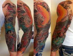 dragon and koi fish sleeve for men ideas