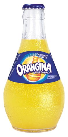 """Orangina created 75 years ago an original concept with the """"Orangina bottle"""", which  became after years a famous symbol of the brand. The packaging makes the difference thanks to its glass bottle and specific round shape. The attractiveness of the packaging comes from its original orange bottle form  and  specific colors (blue and yellow) which facilitates the recognition of the product in store shelves. Moreover, the glass bottle adds a quality image to the product (natural, authenticity)."""