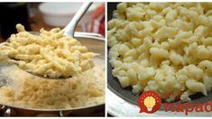 Lepšie halušky som v živote nejedla: Stačí, keď vynecháte zemiak a do cesta nastrúhate túto prísadu – halušky sú neskutočné! Dessert Recipes, Desserts, Kitchen Hacks, Mashed Potatoes, Macaroni And Cheese, Grilling, Tofu, Food And Drink, Cooking Recipes