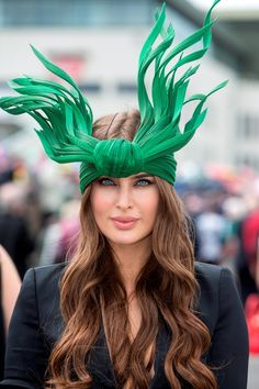 Roz Purcell on Ladies Day at the Galway races 2015. Pic:Mark Condren