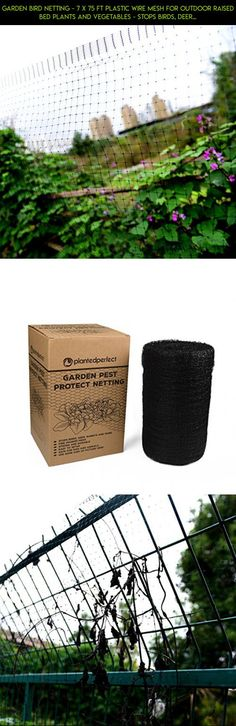 GARDEN BIRD NETTING - 7 X 75 FT Plastic Wire Mesh For Outdoor Raised Bed Plants and Vegetables - Stops Birds, Deer and Other Pests - Perfect For Poultry Fencing or Pond Net - SATISFACTION GUARANTEE #net #products #parts #fpv #shopping #gadgets #plans #gardening #camera #tech #racing #drone #technology #kit