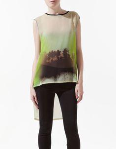 Zara Palm Tree Print Top