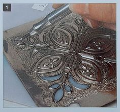 Gilding the Lily Classes: The Art of Metal Embossing ~ Demo & Tools Aluminum Foil Art, Aluminum Can Crafts, Metal Crafts, Wire Crafts, Tin Can Art, Tin Art, Pewter Art, Pewter Metal, Metal Embossing