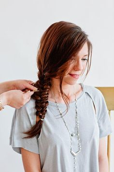 Bobby pin as hair accessory to update a boho fishtail braid - Full Tutorial @beautyhigh