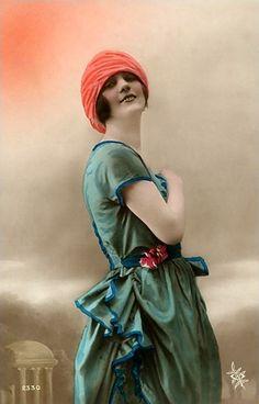 vintage french women postcards | Free Vintage Images, Postcards, Photographs and Other Ephemera Stuff ...