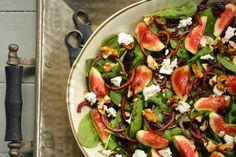 Viikunasalaatti Vegetable Pizza, Vegetables, Food, Essen, Vegetable Recipes, Meals, Yemek, Veggies, Eten