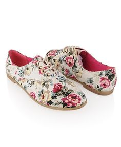 Floral Oxfords - StyleSays