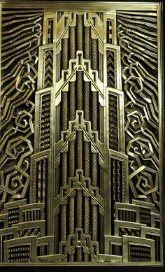 Metalwork in the Chanin building, New York.