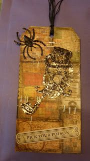 My Happy Life: Tag Técnica Tim Holtz - Outubro