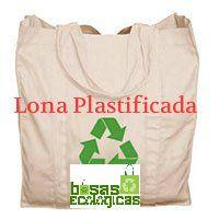 bolsas en lona plastificada