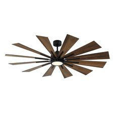 Greyleigh™ 60'' Clayton 12 - Blade LED Windmill Ceiling Fan with Remote Control and Light Kit Included & Reviews | Wayfair 60 Inch Ceiling Fans, 60 Ceiling Fan, Ceiling Fan With Remote, Outdoor Ceiling Fans, Led Ceiling, House Ceiling, Windmill Ceiling Fan, Farm House Colors, Metal Fan