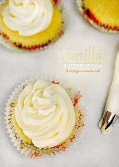 Perfect Vanilla Buttercream Frosting - This is an easy homemade frosting recipe that takes just a few ingredients and a few minutes to whip together.