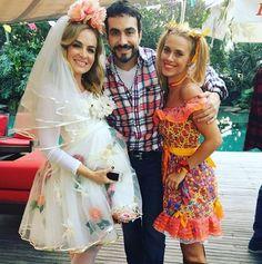 Angélica e Carolina Dieckmann com o Padre Fábio de Mello (Foto: Reprodução / Instagram)