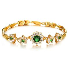 Virgin Shine Gold Plated Green Rhinestones Flowers Combination Bracelet VIRGIN SHINE http://www.amazon.com/dp/B00NUEDXW0/ref=cm_sw_r_pi_dp_Vz.Rub08MYBBJ